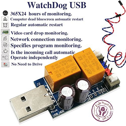 Double Relay Plus Version USB Dongle WatchDog for Mining Miner Rig Unattended Operation Crash Auto Recover Reboot 36524 hours Computer Sensor Switch
