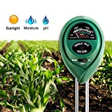 Soil Tester , Famecame 3 In 1 Soil Moisture Meter For Home, Farm, Lawn, Indoor / Outdoor - Ph, Light & Moisture - No Battery Needed (With Various Plants Guide) - Green