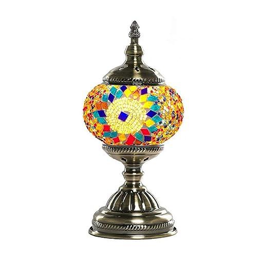 GDLight Lámpara de Mesa de Mosaico marroquí Turco de 5,9 Pulgadas ...