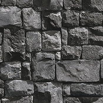 Birwall 2015 Faux Stone Textured Wallpaper Roll 3d Brick Blocks Home Decoration208 X