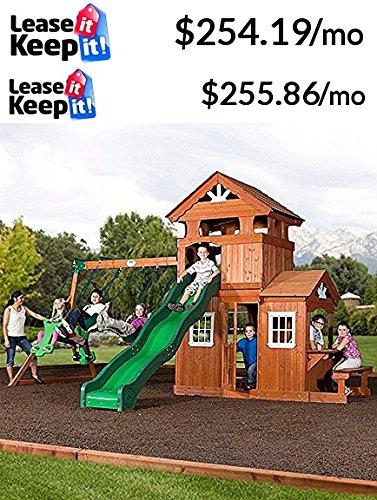 Amazon Com Backyard Discovery Shenandoah Cedar Wood Swing Set Toys