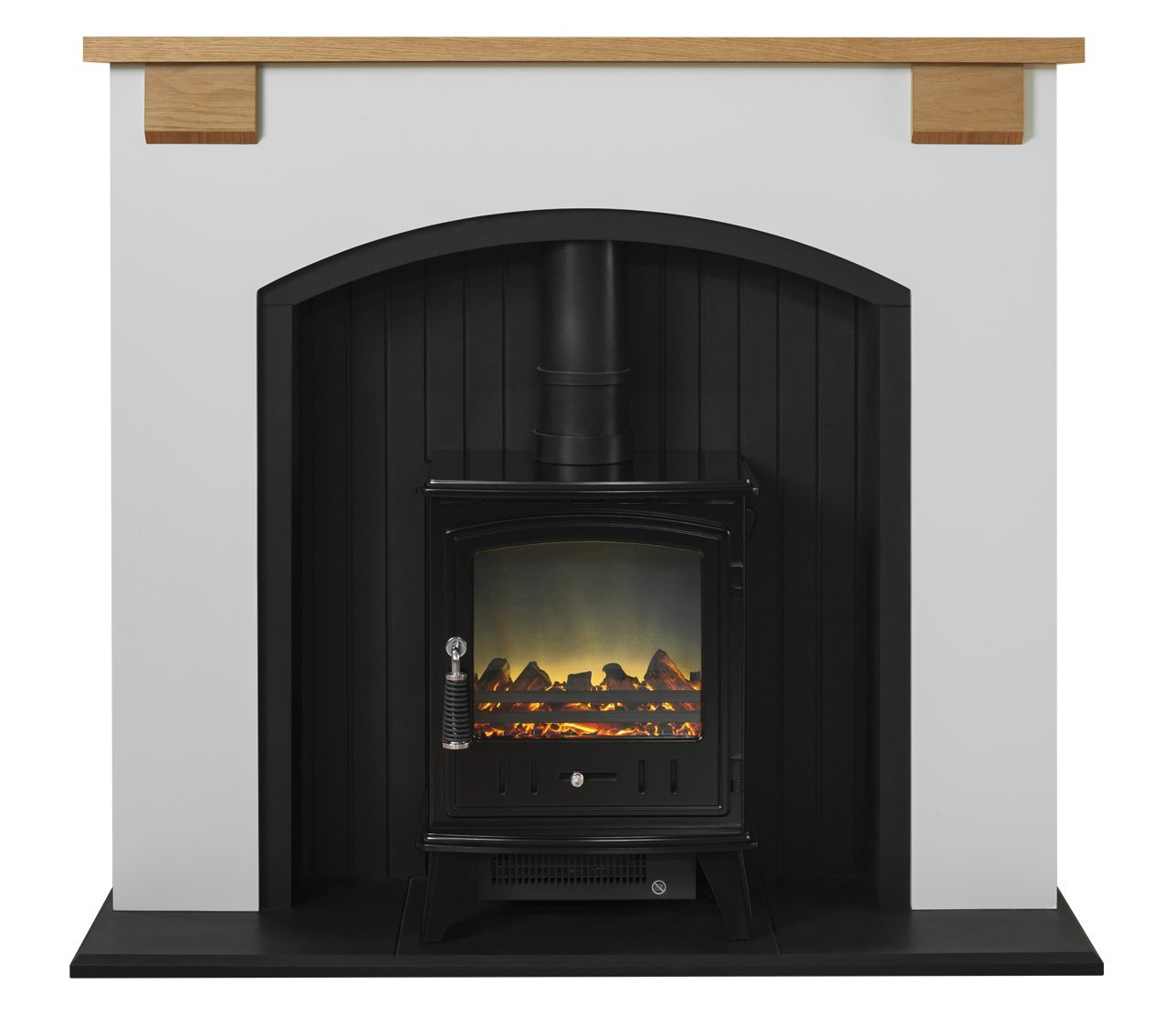 adam vermont stove suite with aviemore electric stove in black