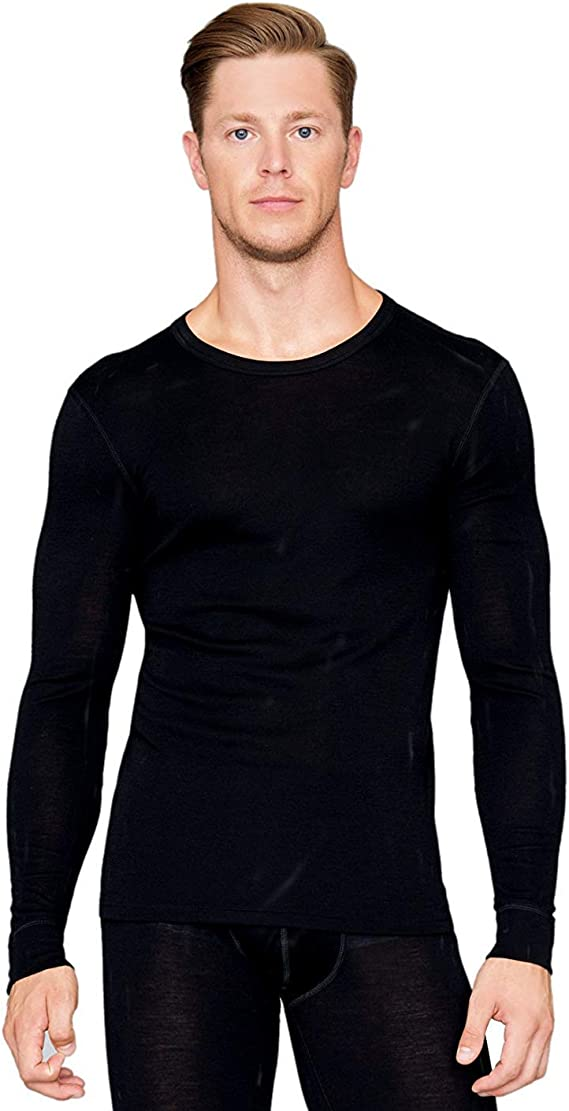 XXL, Black Utenos 100/% Merino Wool Mens ThermoActive Sleeveless Vest Shirt Made in EU