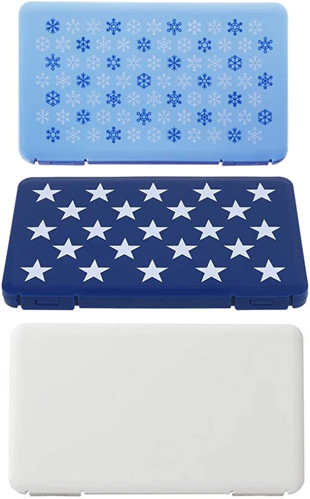 Echana Ousyaah 3Pieces Plastic Portable Face Shields Case,Dustproof Face Masks Cover,Small Parts Beads Box,Jewellery Accessories Boxes Organisers