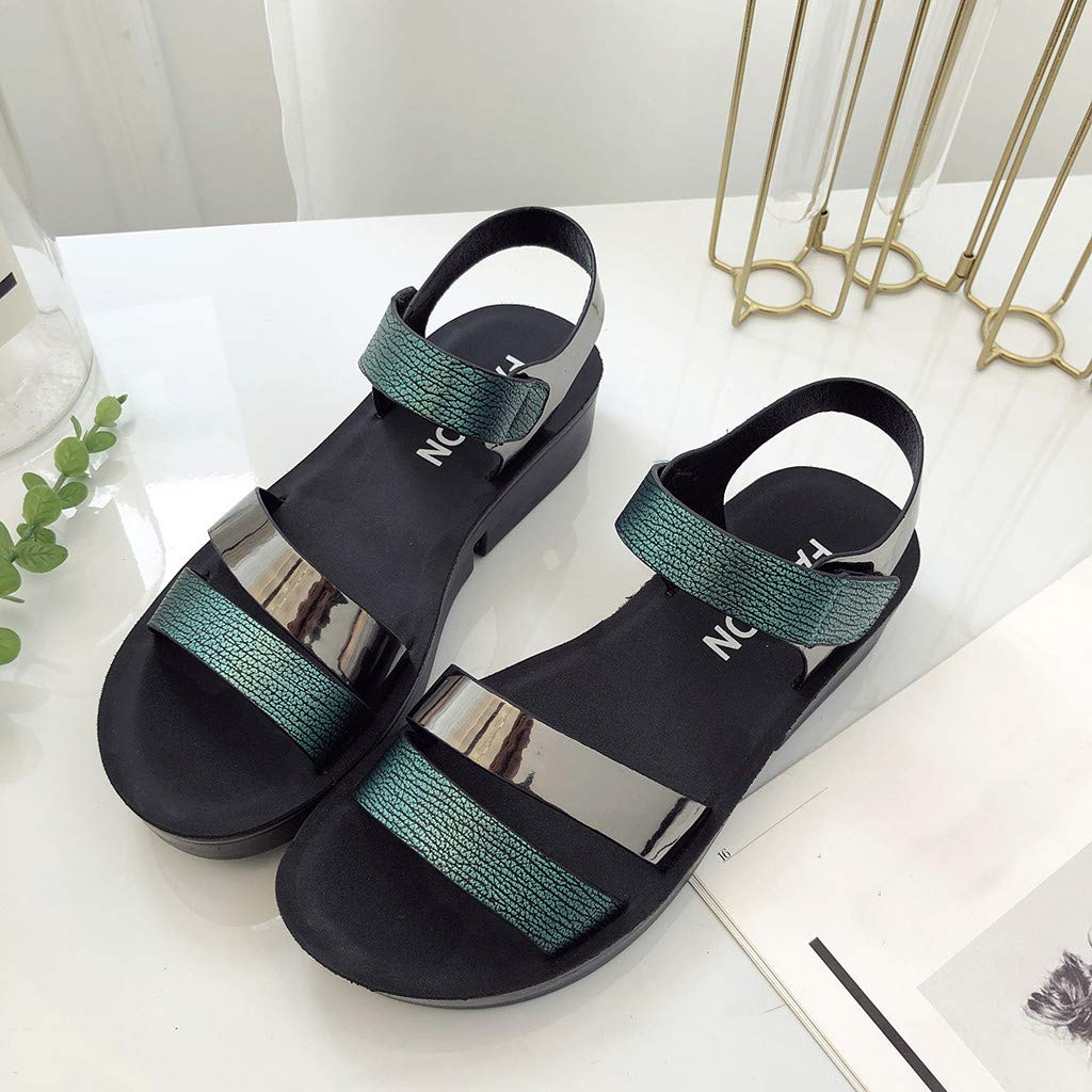 Orangeskycn Women Sandals Summer Summer Fashion Wedge Sandals Flat Comfort Loafers Casual Beach Maternity Shoes