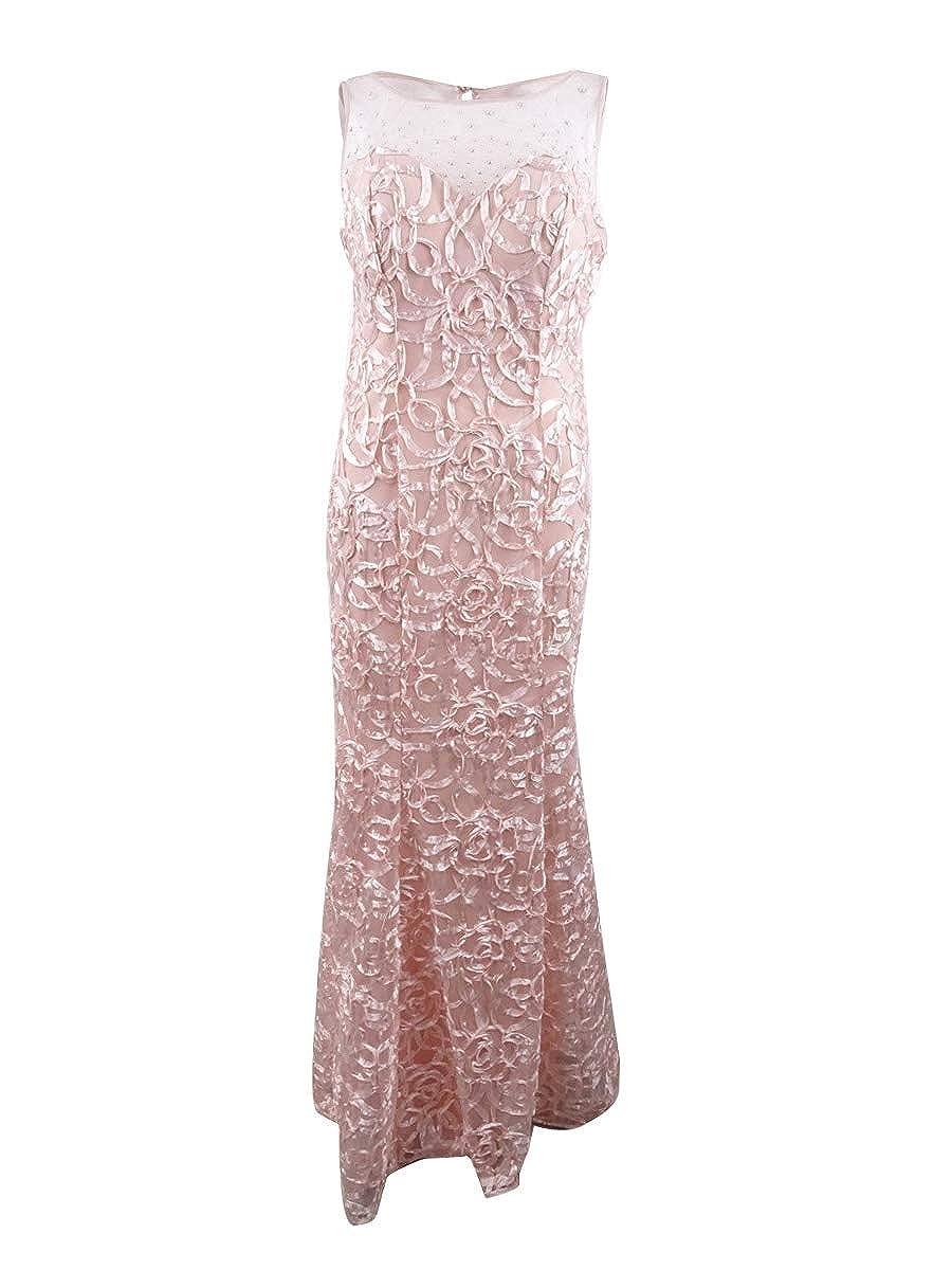 bluesh SLNY Womens Soutache Mermaid Evening Dress