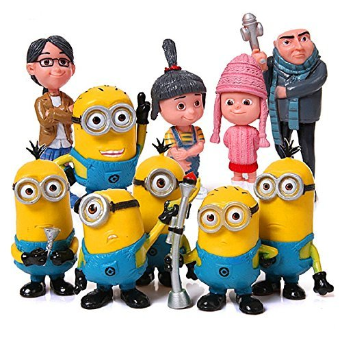 Despicable Me 2 Figures 3D Eye Minions 5 - 9cm Action Figure PVC 10pcs Mini Action Figures Doll Anime Collection Model Toy