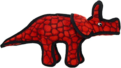 Pet Supplies Tuffy Junior Dinosaur Triceratops Durable Dog Toy
