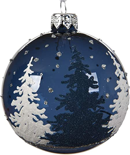 navy blue christmas decorations