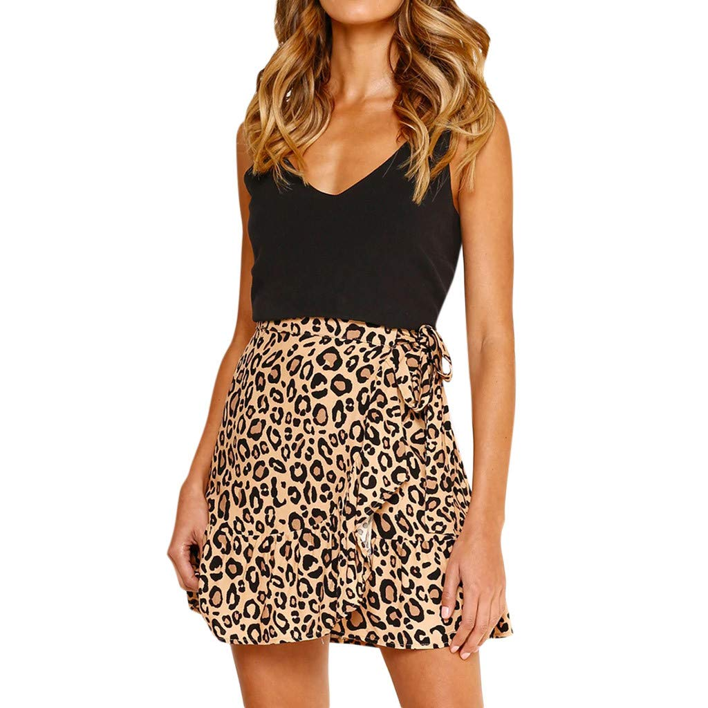 ☀Women High Waist Slim Fit Scooter Skirts☀Retro Printed Style//Evening Party Casual Short Skirt huoaoqiyegu