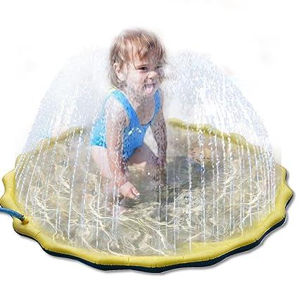 Alfombrilla de juego para aspersor y salpicaduras, juguetes de agua para niños, perros,