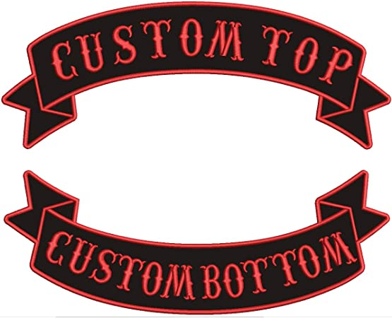 Custom Embroidered Your Name Tag Text Patch Motorcycle Biker HOOK/&LOOP //IRON//SEW
