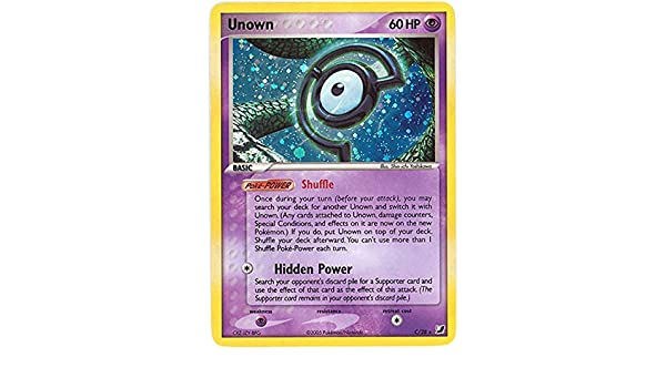 Amazon com: Pokemon - Unown C (120) - EX Unseen Forces: Toys & Games