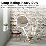 """Self-Stick Furniture Round Felt Pads for Hard Surfaces – Protect your Hard Floors from Furniture Scratches, 1"""" Linen, Round (48 Pieces)"""