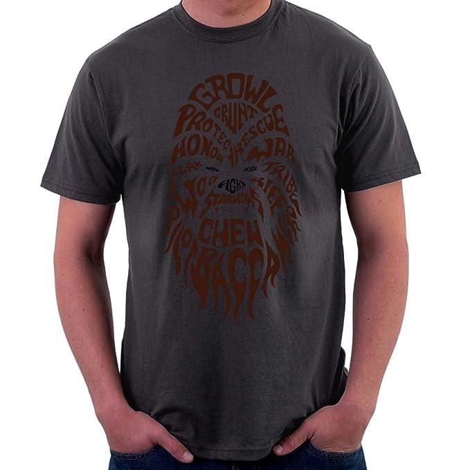dfcdc0da Official Star Wars Chewbacca Text Head, Men's T-Shirt, Charcoal, 2X ...