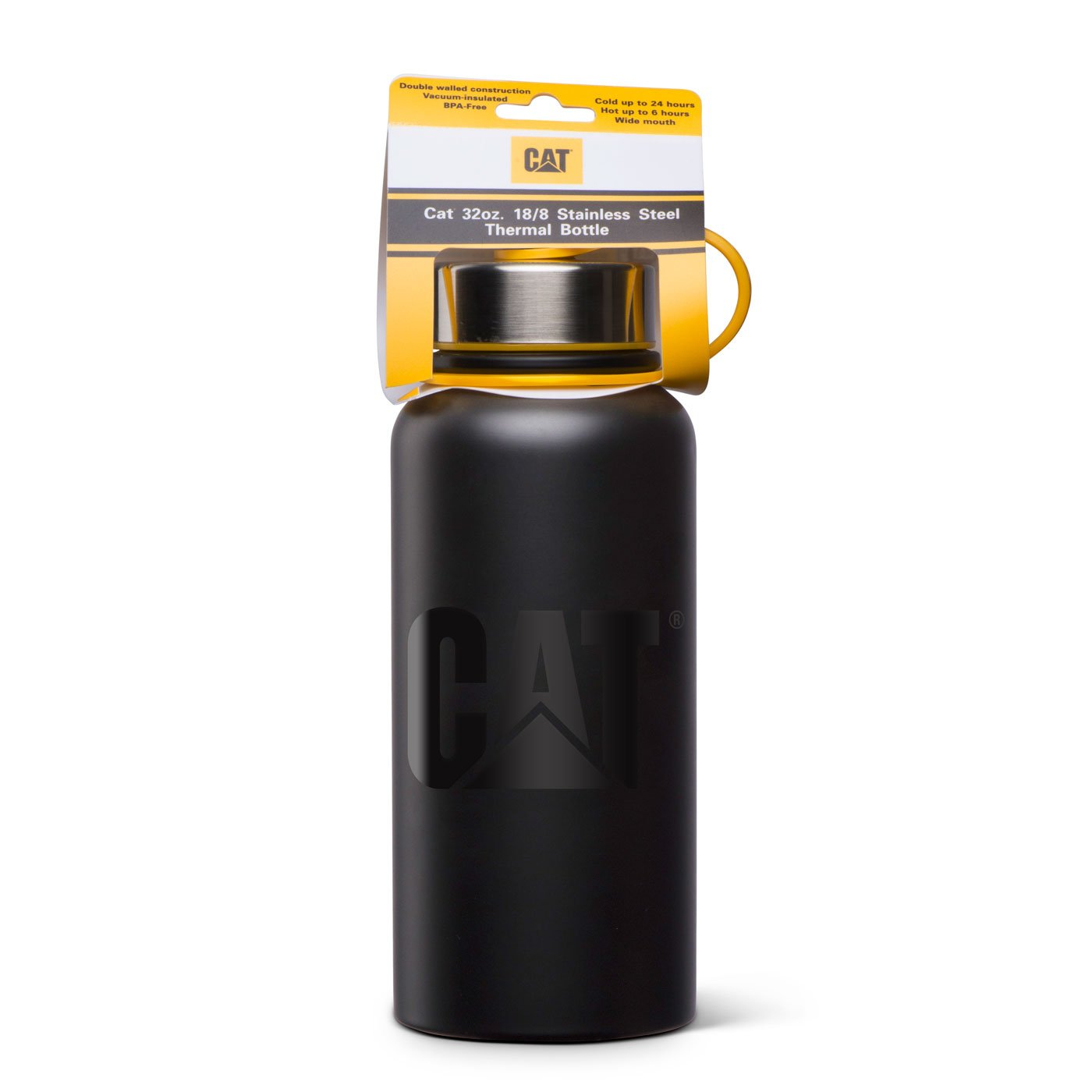 Amazon.com: Caterpillar - Botella de agua térmica de acero ...