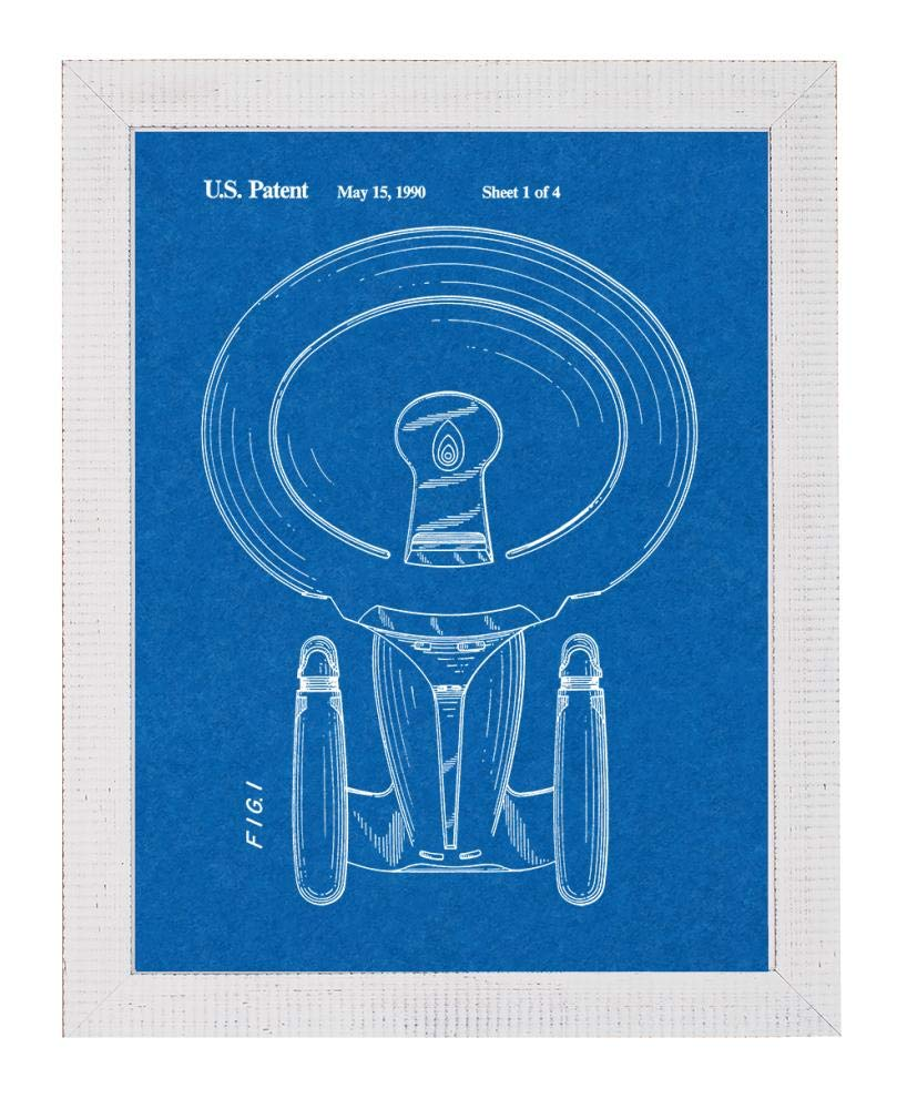 Amazon com: Star Trek USS Enterprise-D Patent Art Blueprint
