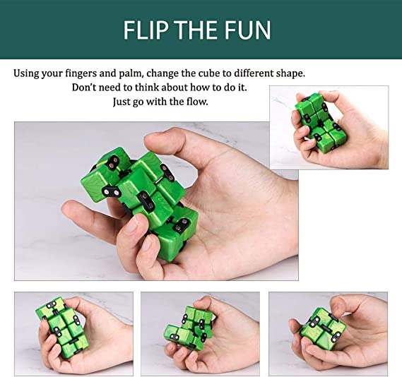 Sapphire QIYI Little Golden Elephant Upgraded Infinity Cube Fidget Toy,Cool Mini Gadget Best for Stress and Anxiety Relief and Kill Time Special Designed Texture Artistic and Fashion