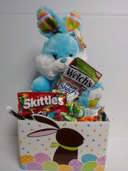 Amazon happy easter basket kids toddlers filled unique stuffers happy easter basket kids toddlers filled unique stuffers prefilled gift children pre made eggs goodies plastic negle Image collections