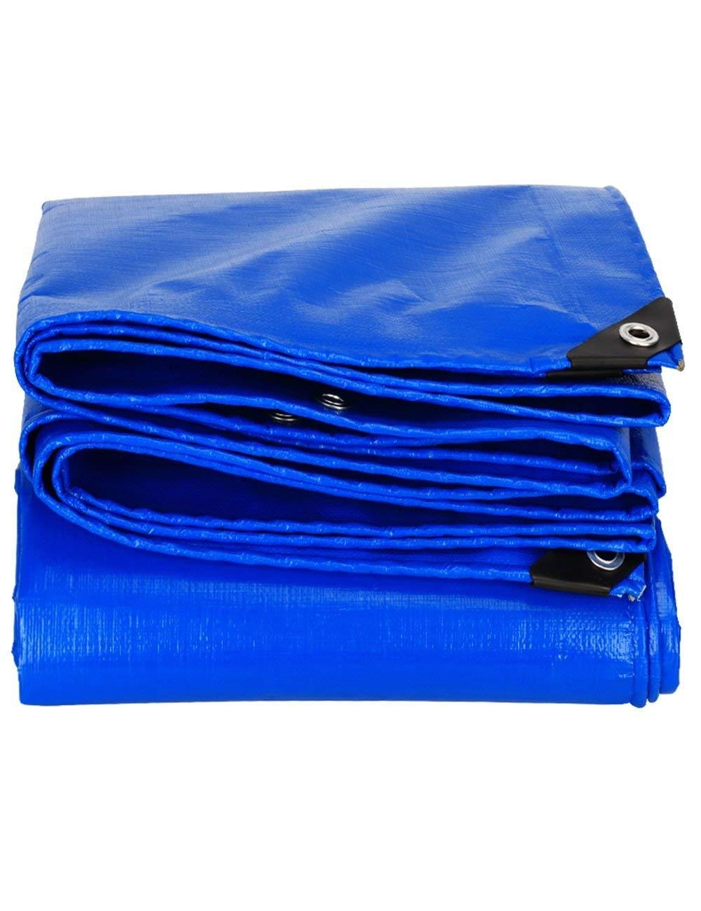 Fonly Blau Verdicken Plane Canvas Cover wasserdicht Tarp Zelt Camping Schatten Tarp