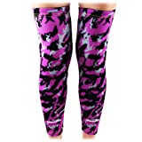 COOLOMG (Pair Basketball Compression Knee Sleeves for Kids Youth Adult Animals Wild Long Leg Purple+Black X-Small