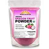 USDA Organic Dragon Fruit Powder, Freeze-Dried Pink Pitaya - Exotic Superfood, Rich in Vitamins and Minerals, Perfect for Col