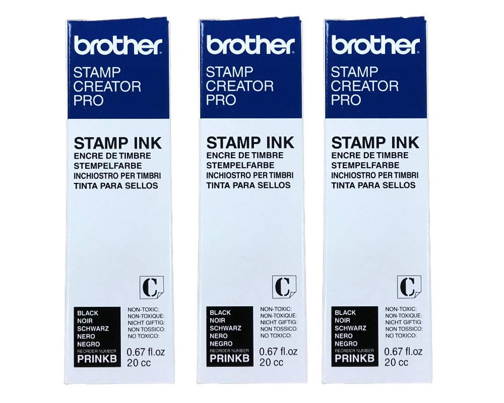 3/Pack Stamp Creator Rubber Stamp Ink Refill (Black) for Brother SC2000 StampCreator by StampCreator