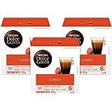 NESCAFÉ Dolce Gusto Nescafé Dolce Gusto Café Lungo de 16 cápsulas cada uno, 3 paquetes
