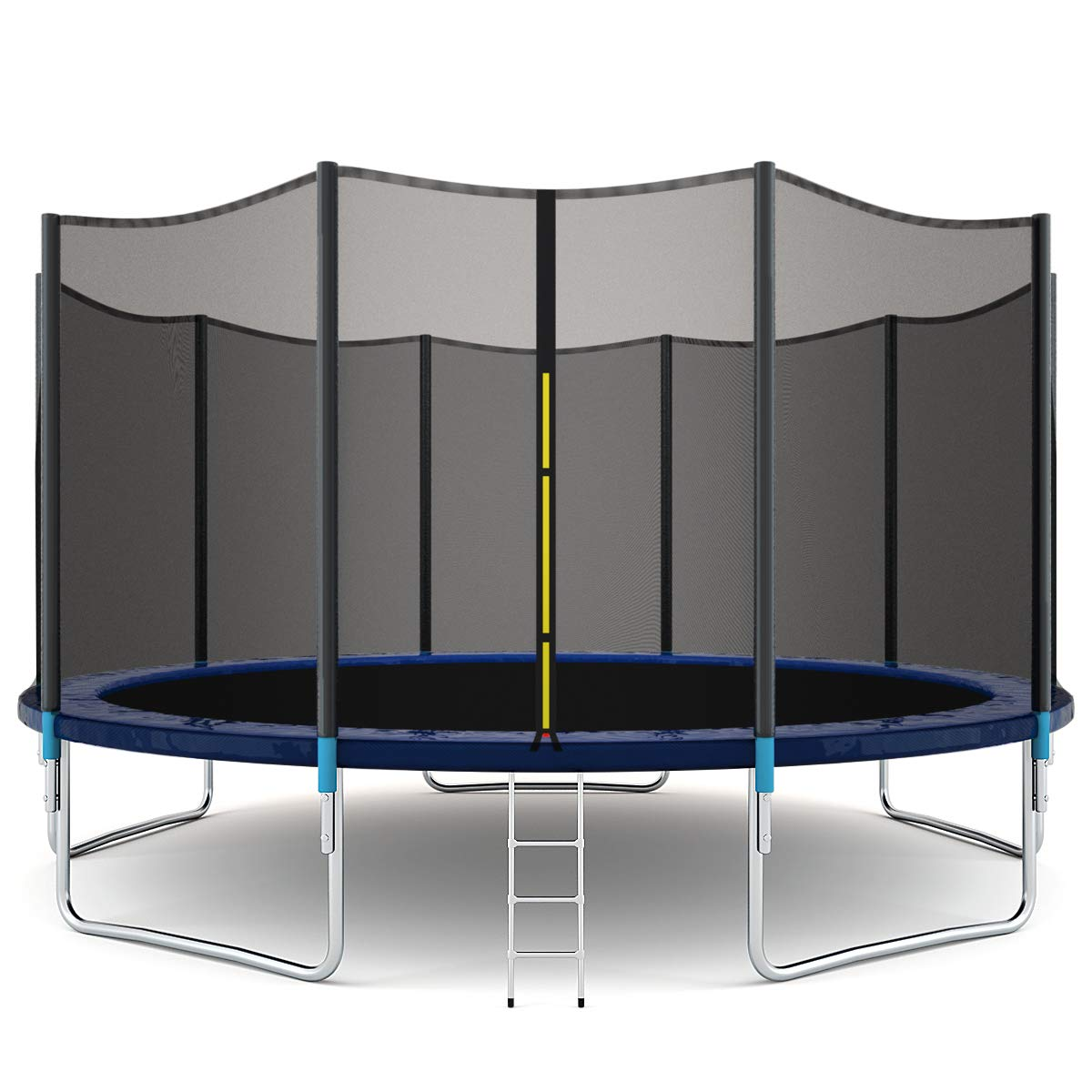 Giantex Trampoline Combo Bounce Jump Safety Enclosure Net W/Spring Pad Ladder, 15 FT