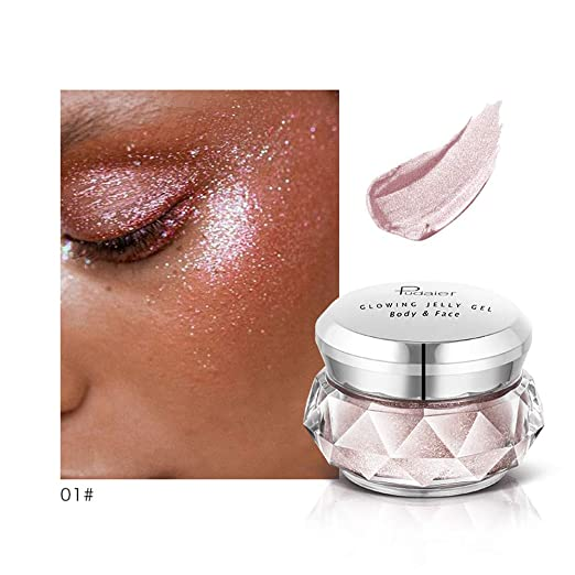 Amazon.com  🍒Jonerytime🍒8 Colors Jelly Gel Highlighter Make Up Concealer  Shimmer Face Glow Eyeshadow Highlighter Cream (A)  Clothing 82a51aa7ffa4