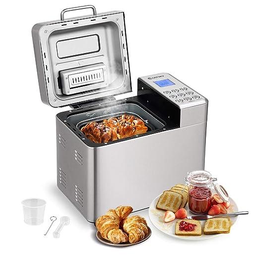 BestComfort máquina de pan automática, 15 programas para hacer pan ...