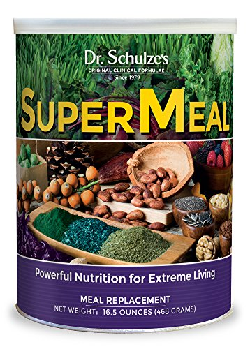 Dr. Schulze's | SuperMeal | Organic SuperFood Powder | Ideal for Meal Replacement | Vegan Dietary Supplement to Boost Energy & Improve Fitness | Weight Loss Aid | Non-GMO & Gluten-Free | 16.5 Oz.