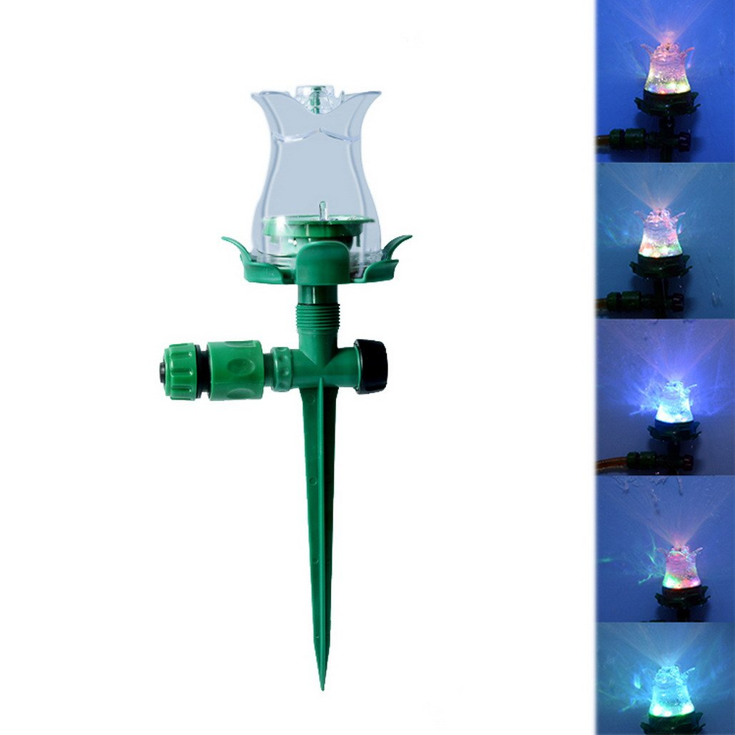 Flying Hedwig Lawn Sprinkler,LED Sprinkler Garden Lawn Colorful Light Automatic Garden Water System Grass Watering Head