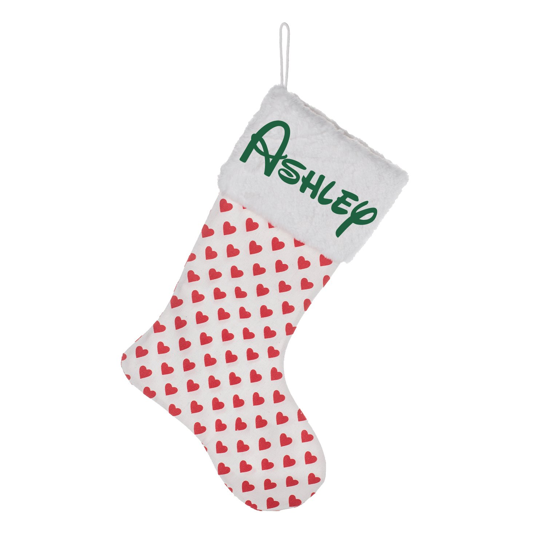 Amazon.com: Personalized Christmas Stocking Custom Name - Fur Collar ...