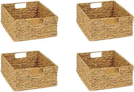 Inwona Ikea Kallax Set Di 4 Cestini Portaoggetti 31 X 34 X 15 Cm Amazon It Casa E Cucina