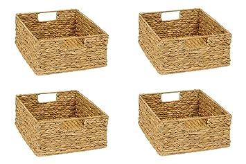 Inwona 4er Set Regal Korb Für Halbes Fach Ikea Kallax Regal