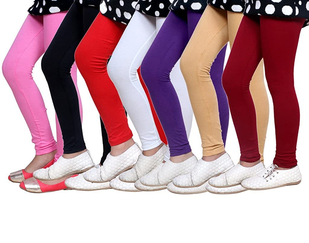 Set of -7 Indistar Little Girls Soft Cotton Leggings
