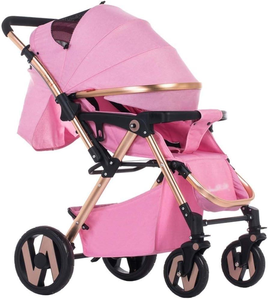 ベビーカーベビーカー軽量ベビーカートラベルシステム赤ちゃんのトロリーが座っていることができます横になっている四輪ショックスーパーワイド双方向ベビーカー調節可能なベビーカーベビーカー
