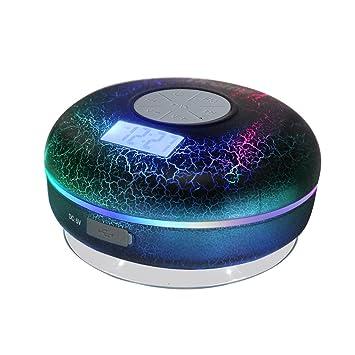 Hrome Bluetooth Shower Speaker IPX7 Waterproof Bathroom Speakers With FM RadioNFCLCD Display