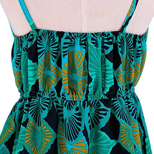 Strand Grün Short Kleider Frau Seaside Dress böhmischen Grünes Sommer Rock Sling Backless ZZ6IgTqPwx