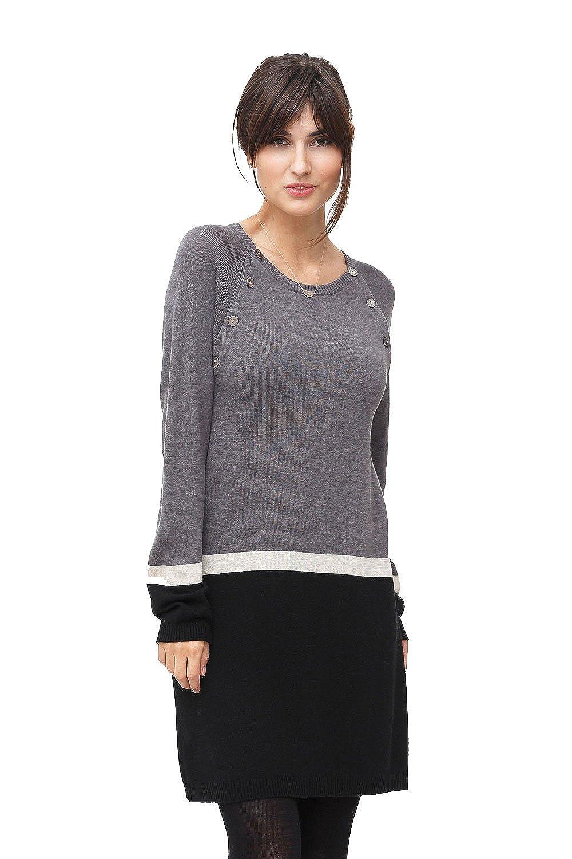 Milker Look - Stillkleid Umstandskleid aus Wolle-Viskose-Strick