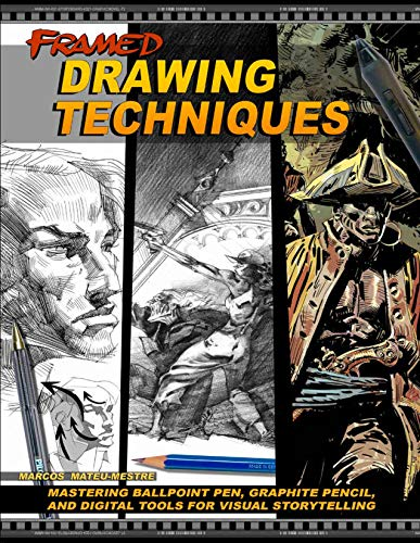 Framed Drawing Techniques: Mastering Ballpoint Pen, Graphite Pencil, and Digital Tools for Visual Storytelling ()