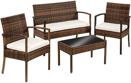SSITG ratán Asiento Grupo Muebles Jardín muebles de jardín Juego de mesa: Amazon.es: Jardín