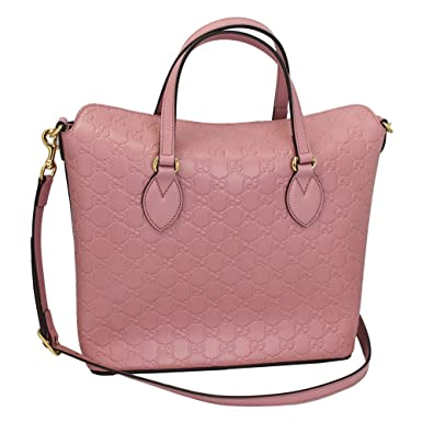09d614d7c467 Amazon.com: Gucci Guccissima Pink Leather Hand Bag With Strap 428226 ...