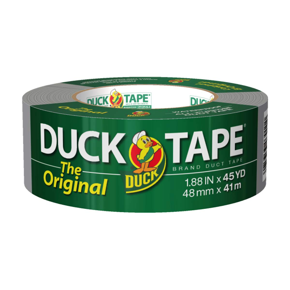 The Original Duck Tape Brand394468 Duct Tape, 1-Pack 1.88 Inch x 45 Yard Silver