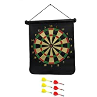 Aryamobi 18 Inch Double Side Magnet Dart Board With Six Darts