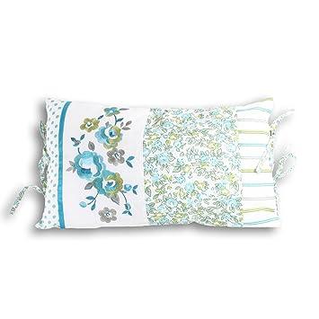 Amazon.com: Appleby – Floral Relleno Cojín, blanco/verde ...