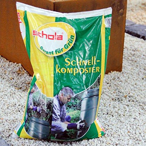 Schola Schnellkomposter zur Beschleunigung des Rottevorgangs von Garten- und Küchenabfällen | 5kg-Eimer