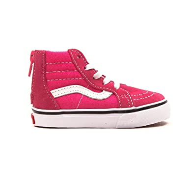 f6e94d01f65e41 Vans Kids Shoes - SK8-HI Zip K- hot Pink True White