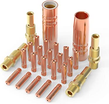 Size: 1//2 Model: 21-50 - Replacement for Lincoln//Magnum 100L /& Tweco Mini #1 Guns MIG Nozzle 2 PACK